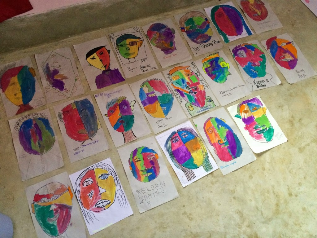 Photo Credit: Megan Haskin - Finished Picasso Portraits